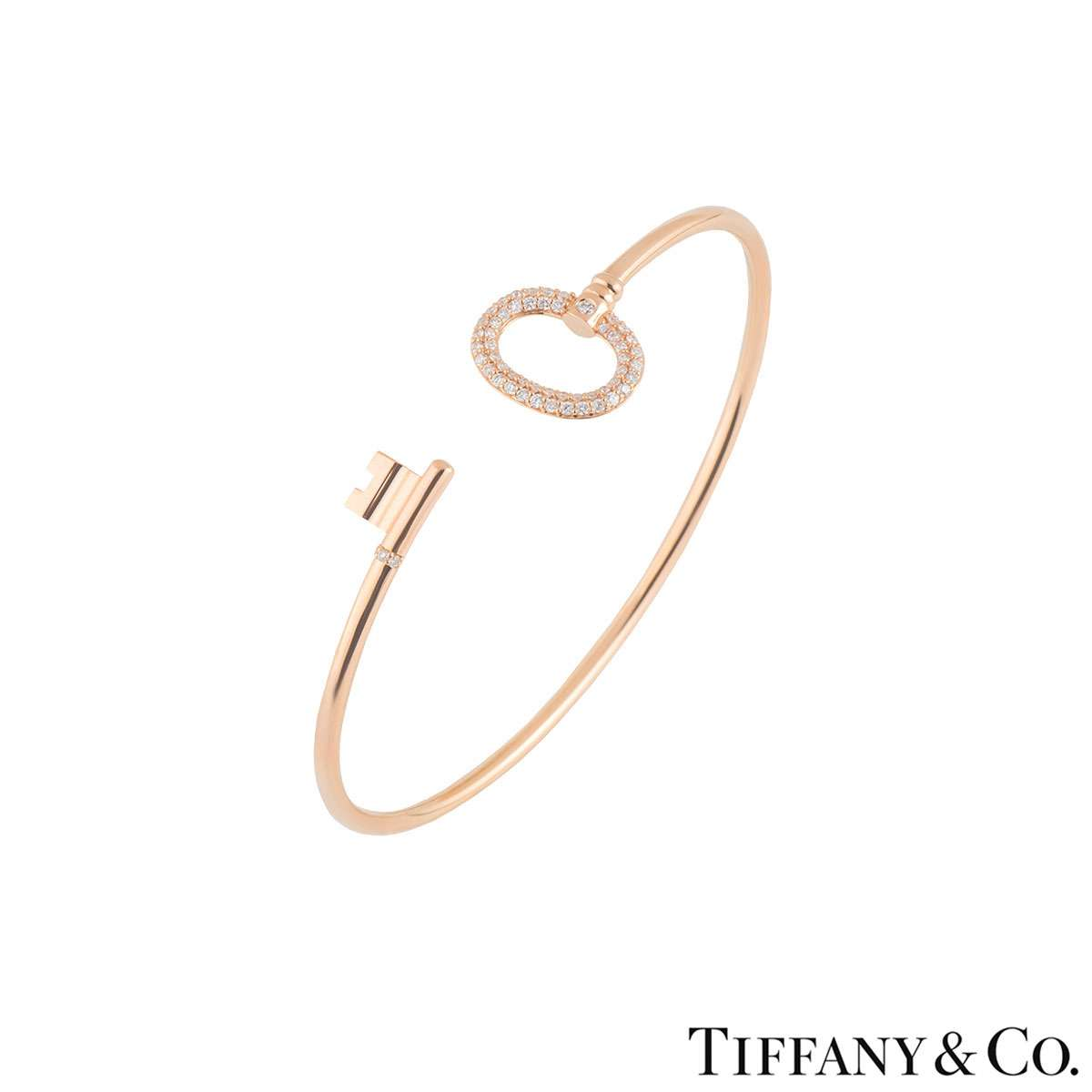 Tiffany & Co. Keys Rose Gold Wire Bracelet